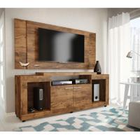 Rack Com Painel Para Tv 52 Polegadas Alabama Jatobá 190 Cm