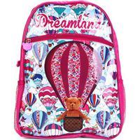 Mochila Escolar Infantil Pacific Estampa Balão Feminina - Feminino-Rosa