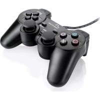 Controle Para Pc/Playstation 2 E 3 Js071 Multilaser Preto