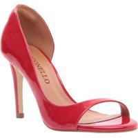 Peep Toe Envernizado- Vermelho- Salto: 9,5Cmcecconello