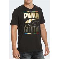 Camiseta Puma Rebel Tee 5 Continents Masculina Pre