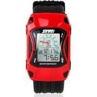 Relógio Infantil Skmei Digital Masculino - Masculino-Vermelho