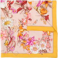 Salvatore Ferragamo Echarpe Com Estampa Floral - Amarelo