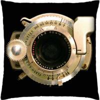 Almofada Colours Creative Photo Decor Lente De Câmera Fotográfica Preto