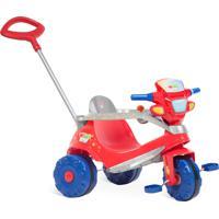 Triciclo Velobaby Passeio & Pedal Bandeirante Vermelho