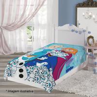 Manta Fleece Solteiro Frozen®- Azul Claro & Branca- Lepper