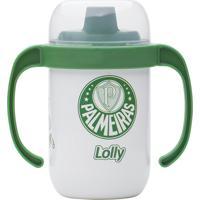 Copo Antivazamento Palmeiras Lolly Baby Branco E Verde