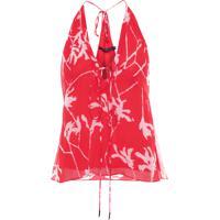 Blusa Feminina Manola Alcinha Estampada - Vermelho