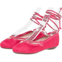 Sapato Molekinha Amarração Infantil Rosa