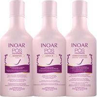 Kit Shampoo + Condicionador + Leave In Inoar Pós Progress Kit - Unissex-Incolor