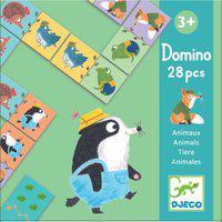 Jogo De Dominó - Animais - Djeco - Dj08115 - Multicolorido