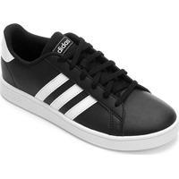 Tênis Infantil Adidas Grand Court - Unissex-Preto+Branco