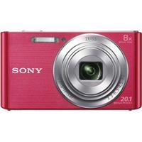 Câmera Digital Sony Cyber Shot Lcd De 2,7'' 20.1Mp Dsc-W830 Rosa