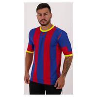 Camisa Placar Catalão Vermelha E Azul