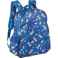 Mochila Infantil Ls Mo4126 Com 5 Divisões - Unissex-Azul