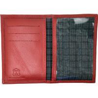 Porta Documento Hendy Bag Couro Vermelho