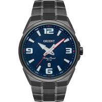 Relógio Orient Masculino Myss1001 D2Gx Pulseira E Caixa Aço Grafite Mostrador Azul