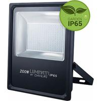 Refletor Projetor Slim Led Luz Branca Bivolt 100W - Lm248 - Luminatti - Luminatti