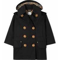 Burberry Kids Trench Coat Impermeável - Preto