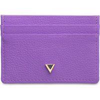 Porta-Cartões Feminino Couro Purple