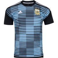 Camisa Pré-Jogo Argentina 2018 Adidas - Masculina - Preto Azul Cla 224401ac30ed4