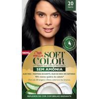 Tintura Soft Color Sem Amônia Preto 20 Kit