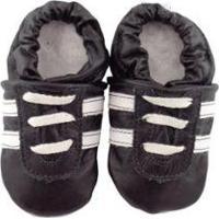 Pantufa Catz Calçados Infantil Couro Angel - Unissex-Preto