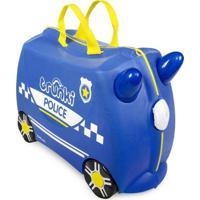 Mala Infantil Trunki - Carro De Policia - Sua Viagem Muito Mais Divertida Azul - Tricae
