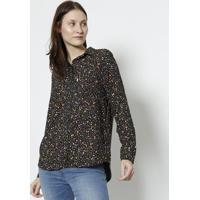 Camisa Floral- Preta & Amarelalevis