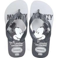 Chinelo Infantil Havaianas Top Disney Mickey Cinza