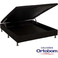 Box Casal Com Baú Physical - Preto - Ortobom