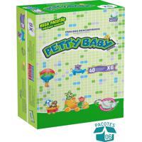 Fralda Petty Baby - Mega Pacotão Xg - 240 Unidades Ganhe Toalhinha Umedecida Petty Baby 50 Unidades