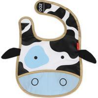 Babador Skip Hop Zoo Vaca Feminino - Feminino-Azul