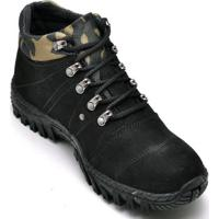 Bota Coturno Adventure Masculino Top Franca Shoes - Unissex-Preto