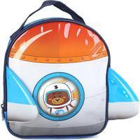 Lancheira Escolar Infantil Clio Foguete Masculina - Masculino-Azul