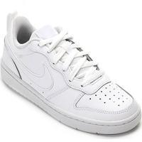 Tênis Infantil Couro Nike Court Borough Low 2 - Masculino-Off White