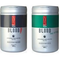Red Iron Pó Descolorante Extra Forte Blond Extreme + Red Iron Blond Free Style Extra Forte - 2X400G - Feminino