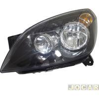 Farol - Importado - Vectra 2009 Até 2011 - Foco Duplo H7/H1 - Elétrico - Máscara Preta - Lado Do Motorista - Cada (Unidade) - 25007