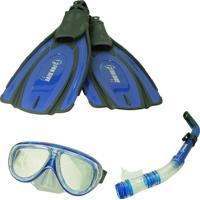 Kit De Mergulho F2 Azul - Fun Dive