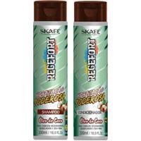 Skafe Regefort Hidratação Poderosa Óleo De Coco Kit Shampoo E Condicionador Kit - Unissex-Incolor