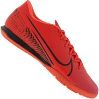 Chuteira Futsal Nike Mercurial Vapor 13 Academy Ic - Adulto - Coral/Preto