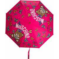 Moschino Guarda Chuva Com Estampa De Logo E Borboleta - Rosa