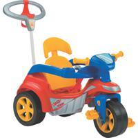 Triciclo Baby Trike Evolution Pedal C/ Empurrador Vermelho Biemme