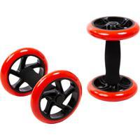 Roda Abdominal Dupla Yangfit Core Wheel Par Preta
