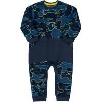 Macacão Infantil Camuflado Azul