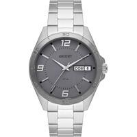 Relógio Orient Masculino Mbss2026 G2Sx Pulseira E Caixa Aço Prateado Mostrador Cinza