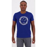 Camiseta Cruzeiro Wall Masculina - Masculino-Azul