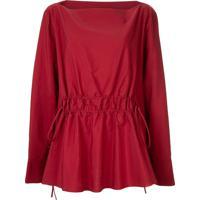 Marni Blusa Com Decote Canoa - Vermelho