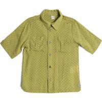 Camisa De Botã£O Geomã©Trica- Amarela & Brancagreen