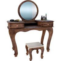 Penteadeira Com Espelho Ariel Canela